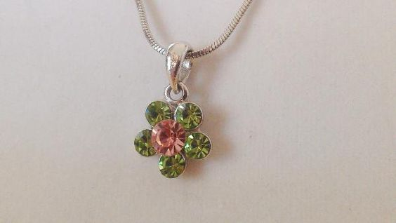 Cookie Lee Crystal Flower Necklace