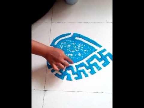 how to make new latest rangoli design - created by latest rangoli - YouTube