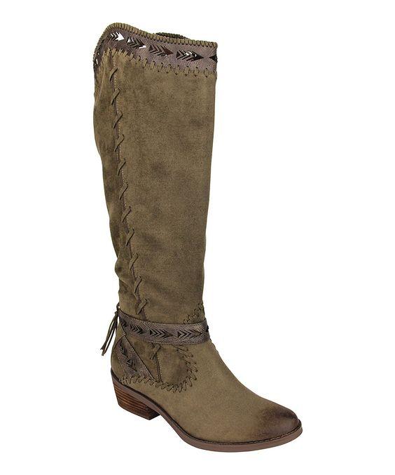 Khaki Sansa Boot