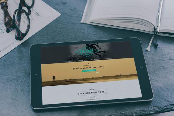 Diseño #responsive del sitio web totalkitesurf