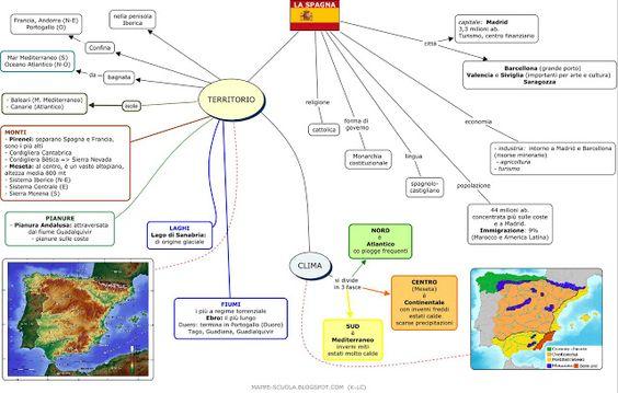 MAPPE per la SCUOLA: LA SPAGNA, Geografia