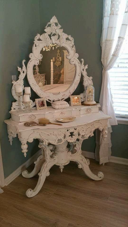 Beyond Equisite I Can Imagine The Majesty Before It Was Painted. | Shabby  Chic Decor !!! | Pinterest | Dressing Tables, Vanities And Dressings