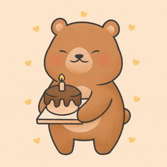 Cute Rabbit Cartoon Hand Drawn Style Cute Bear Drawings Cute Kawaii Drawings Birthday Cartoon