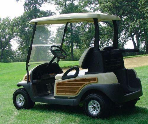 club car precedent golf cart light oak woody kit with dash gloveboxes. Black Bedroom Furniture Sets. Home Design Ideas