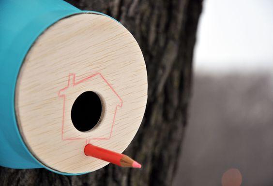 Casa para passarinhos com um toque de arte!