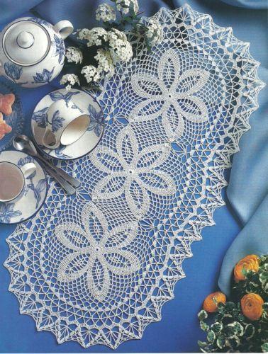 Three for Tea Doily Crochet Pattern Instructions | eBay