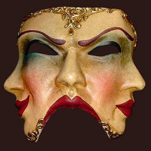 masque de Venise Trifaccia Dipinta Blue Moon Mask Quirao idées cadeaux