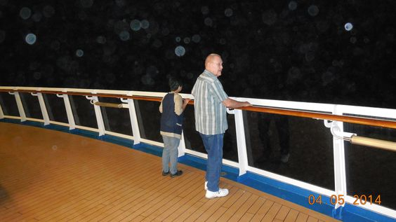Standing on the fantail watching while many memories, miles and emotions are running through your mind