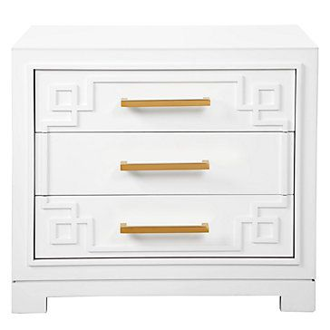 ADORABLE York 3 Drawer Nightstand | Nightstands | Bedroom | Furniture | Z Gallerie: