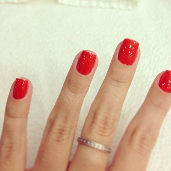 Unhas vermelhas: Geléia de Pitanga, Risqué. // Red nails.