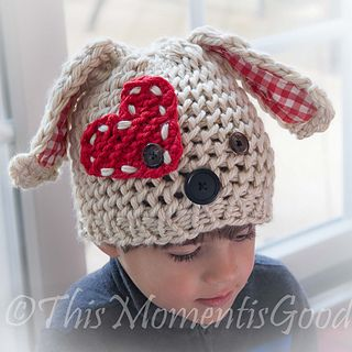 Puppy Dog Hat Knitting Pattern : Loom, Puppys and Loom knitting on Pinterest