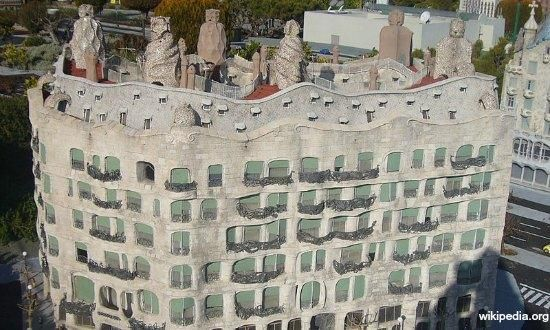 Casa Milà, better known as La Pedrera meaning the 'The Quarry'. One of Gaudi's