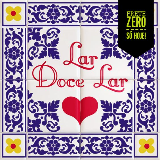 Placa decorativa Lar Doce Lar - R$39.90