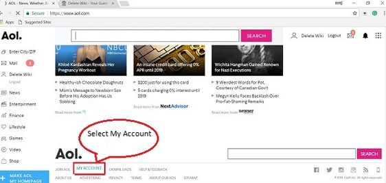Select-My-Account-Option