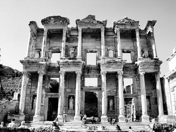 Library of Celsus - Library of Celsus, Ephesus, Turkey.