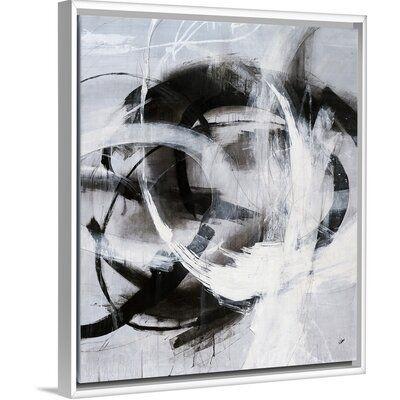 Orren Ellis Misdirection Painting On Canvas Format White Floater Frame Size 25 7 H X 21 7 W X 1 75 D Painting Floater Frames