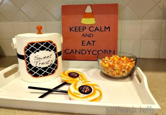 Decorating for Fall with Candy Corn: A DIY Candy Corn Sign - frugal fall decorations