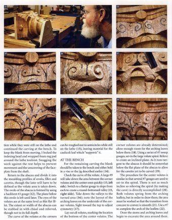 #2342 Carving Corinthian Capital - Wood Carving