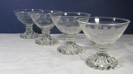 Vintage Candlewick Glasses Champagne Sherbet Glassware  by LavenderGardenCottag