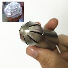01 Bola Esfera de Bicos Dicas Russa tulipa Creme Aço Inoxidável Confeiteiro Piping Bicos Pastelaria Decoração Decorador Queque Quente(China (Mainland))