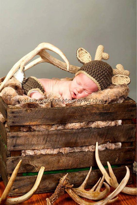 Newborn Deer Size White tail deer set, crochet deer hat crochet deer ...