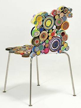 """Campana brothers chair - made of recycled pieces of paper and fabric."":"