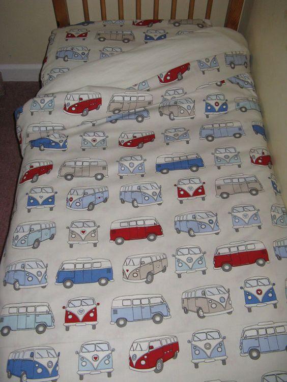 VW Campervan Bedding Set For A Cot Bed Junior Bed By