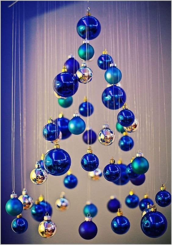 Suspension Sapin De Noel 27 Unusual Christmas Trees Of Ornaments | Blue christmas decor
