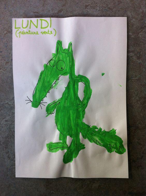 Lundi vert le loup qui voulait changer de couleur loup qui voulait changer de couleur - Couleur qui s accorde ...