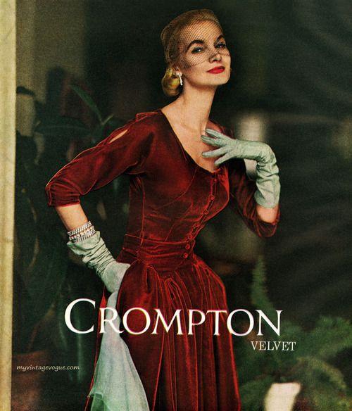Sunny Harnett wearing a dress by Nelly de Grab 1953