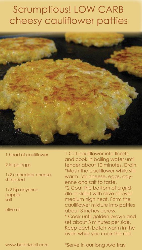 Scrumptious LOW CARB RECIPE !!  Easy cheesy cauliflower patties.. (Not sure if paleo due to the cheese though?)