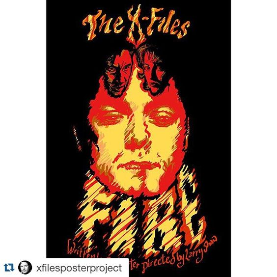 #Regram @xfilesposterproject  #thexfiles poster for the episode #fire - for sale now at artpal.com/Xfposterproject #xfiles #xfilesart #design #xf #txf #davidduchovny #gilliananderson #mulder #scifi #scully #horror #xphiles #tv #movies #poster #chriscarter #fox  #xfilesposterproject