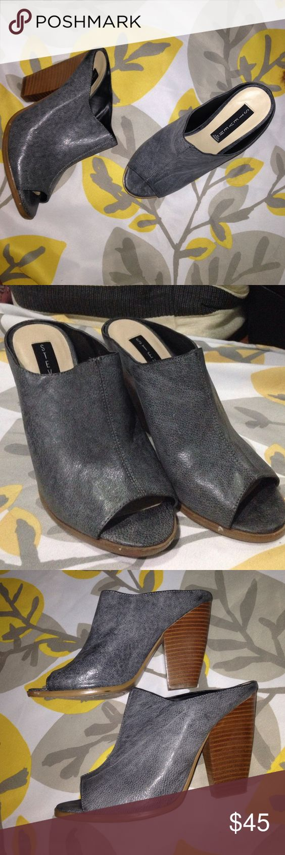 NWOB Steven by Steve Madden heeled mule clogs New without box Steven by Steve Madden Carisma  Blue 3inch heels. 🙋 send me offers Steven by Steve Madden Shoes Mules & Clogs