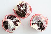 How to cut open and de-seed a pomegranate.  Step-by-step instructions with photographs. ~ SimplyRecipes.com