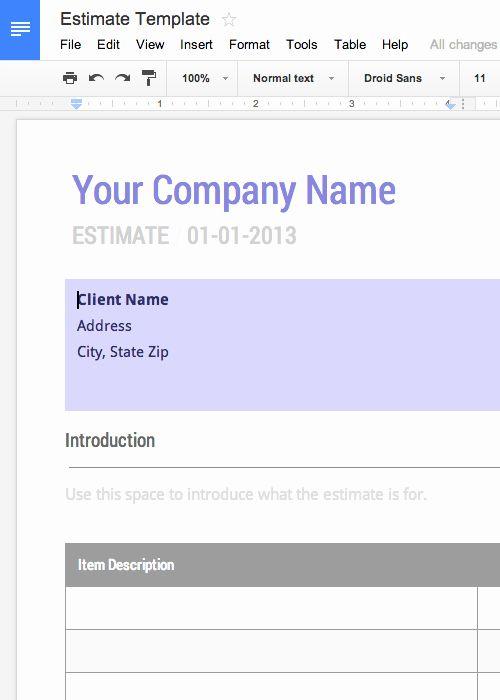 Google Docs Quote Template Elegant Free Invoice Timesheet Templates Cashboard Invoice Template Estimate Template Invoice Template Word