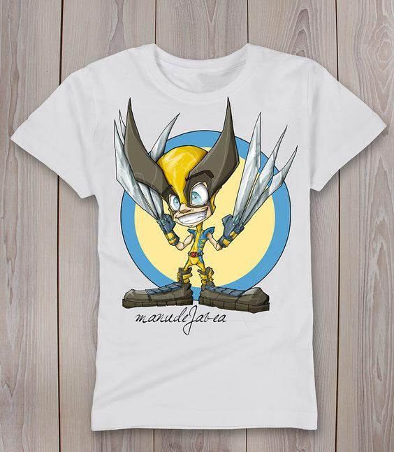 camiseta lobezno t-shirt