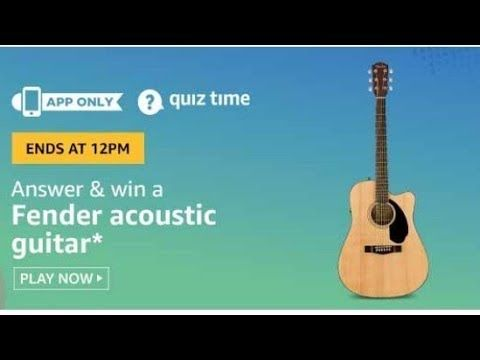 Amazon Quiz Answers Today Win Fender Acoustic Guitar Quiz Today Vi In 2020 Fender Acoustic Guitar Fender Acoustic Acoustic Guitar