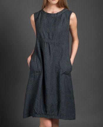 Linen women dress Pure linen dress Dark grey dress от LinenStory