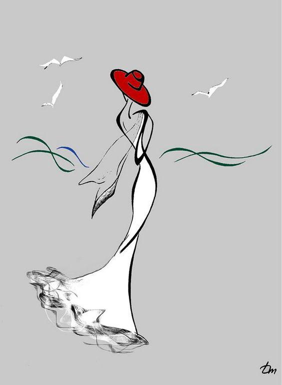 Только листья с деревьев так и падают.... Художник Татьяна Марковцева (Tatyna Markovtsev) . Обсуждение на LiveInternet - Российский Сервис Онлайн-Дневников