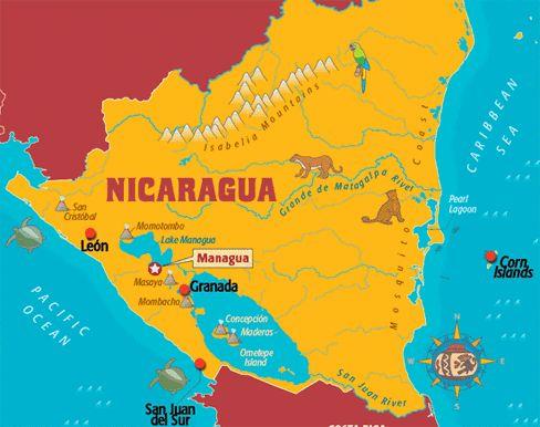Nicaragua Sightseeing Nicaragua Sightseeing Guide Nicaragua - Nicaragua map