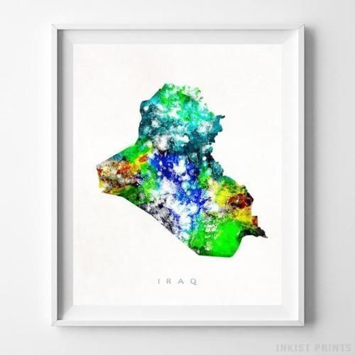 Bangladesh Watercolor Map Wall Art Home Decor Poster Artwork Gift Print UNFRAMED