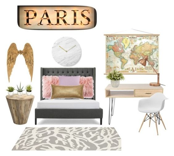 """""""My sisters dream bedroom"""" by gracylane on Polyvore featuring interior, interiors, interior design, home, home decor, interior decorating, Bluebellgray, Menu, Somerset Bay and bedroom"""