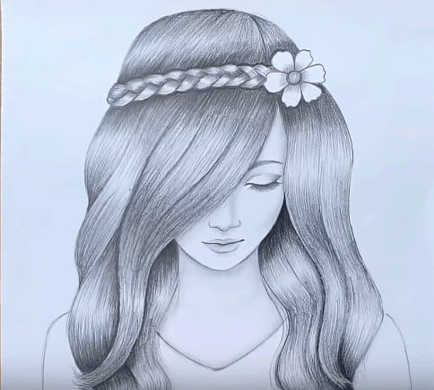 How To Draw A Beautiful Girl With Pencil Step By Step With This How To Video And Ste Beautiful Girl Drawing Pencil Drawings Of Girls Pencil Drawing Inspiration