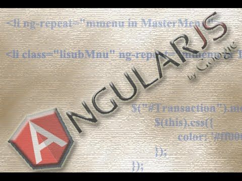 creating dynamic menu from json using angularjs youtube