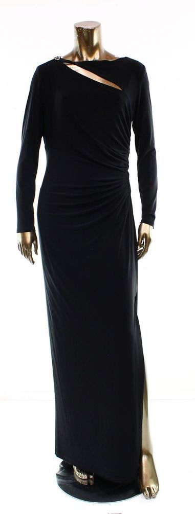Lauren Ralph Lauren NEW Black Cutout Solid Dress Women's Size 4 Sheath $190 #LaurenRalphLauren #Sheath #Cocktail