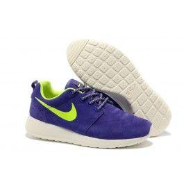 Nike Roshe Run Leder Lila Grün Weiß Frauen
