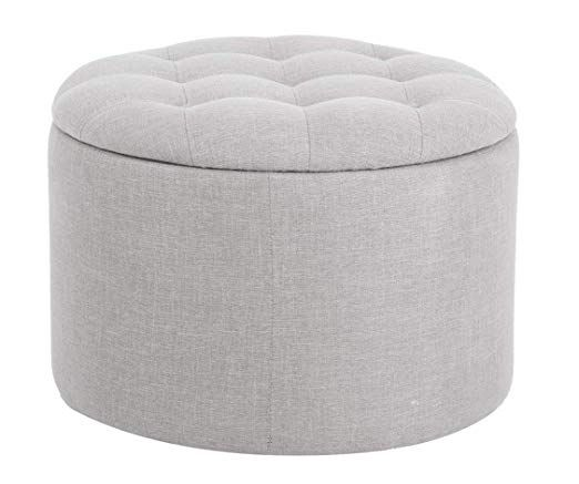 Outstanding Ravenna Home Justin Tufted Storage Ottoman 24W Grey Alphanode Cool Chair Designs And Ideas Alphanodeonline