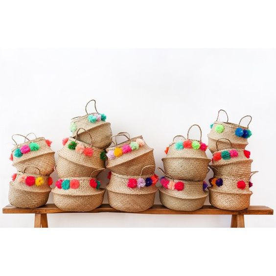 Amber Interiors | Eliza Gran Pom Pom Baskets.
