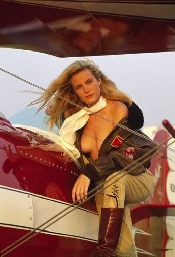 nude girls with aircraft