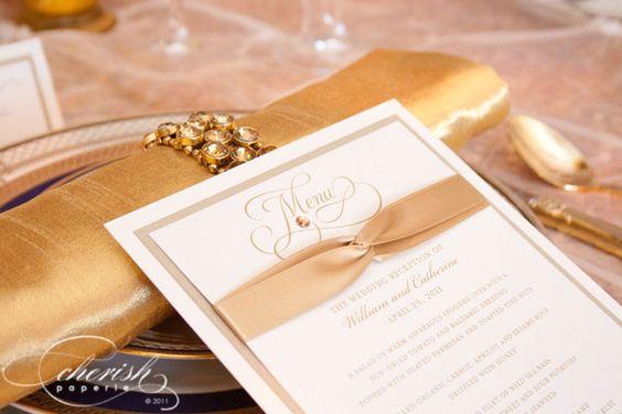 Custom Programs LLC dba Cherish Paperie Blog: Royal Wedding Reception Stationery {Custom Event Stationery}